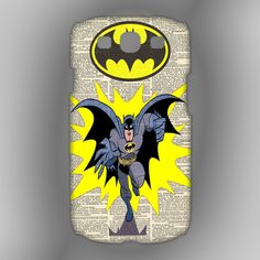 Vintage Batman Poster Dictionary For Samsung Galaxy S3 Case | HERLIANCASE - Accessories on ArtFire