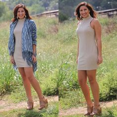 """#NEWARRIVALS  #Taupe #Knit #Dress $33.99 S-L #Aztec #Cardigan $38.99 S-L •Kassidy is 5'8"" and 150lbs. She is wearing a medium in both.• #BedStu #Petra #Wedges $152.99 We #ship! Call to order! 903.322.4316 #shopdcs #shoplocal #love #style"" Photo taken by @daviscountrystore on Instagram, pinned via the InstaPin iOS App! http://www.instapinapp.com (09/22/2015)"