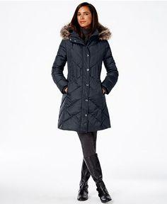 Anne Klein Petite Double-Breasted Peacoat - Coats - Women - Macy's ...