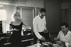 Marilyn Monroe, Arthur Miller and Yves Montand