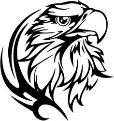 tribal animal designs | Eagle Stickers 23 Tribal Animals Decal Sticker Car