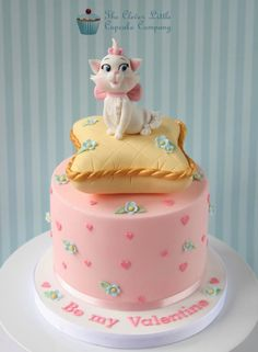 Cute Marie Valentine's Day Cake made by The Clever Little Cupcake Company.