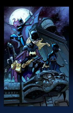 The Three Batgirls: Barbara Gordon, Stephanie Brown (now The Spoiler), and Cassandra Cain (now The Blackbat)