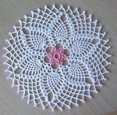 best ideas for crochet gloves flower Col Crochet, Crochet Round, Thread Crochet, Crochet Motif, Crochet Home, Free Crochet Doily Patterns, Crochet Doily Diagram, Crochet Circles, Crochet Designs