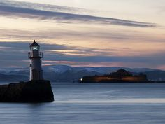 El Faro y la isla de Munkholmen.
