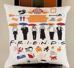 central perk friends fan art pivot tv series pillow cases size 20x20 two side #Modern