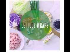 Lettuce Wrap Recipe includes Young Living's Ginger Vitality and Basil Vitality essential oils.  Party food!  Serve as an appetizer or main dish.