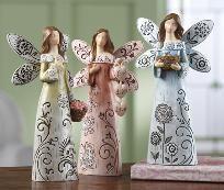 Sentiment Angel Figurines Collectible Set
