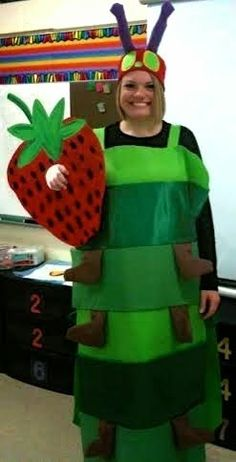 The Very Hungry Caterpillar | Community Post: 24 Awesome Kids' Book-Inspired Halloween Costumes For Grownups