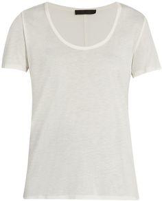 THE ROW Stilton scoop-neck T-shirt Everyday Look, Neck T Shirt, The Row, Perfect Fit, Scoop Neck, Women Wear, Short Sleeves, Stylish, Tees