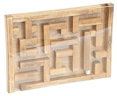 MARBLE MAZE Classic Hand Eye Coordination Game Handmade Wood Office Toy Amish Handcrafted Hardwood USA