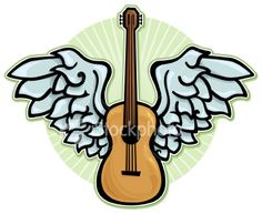 Winged acoustic guitar