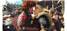 Hiccup kisses Astrid HTTYd 2