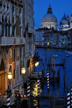 A classic view of Venice from the Accademia Bridge, looking east towards the church of Santa Maria della Salute