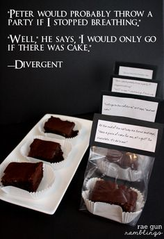 Celebrate Divergent with a recipe and free printables for Dauntless Chocolate Cake at Rae Gun Ramblings