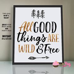 INSTANT DOWNLOAD Wild one First Birthday Party sign Poster