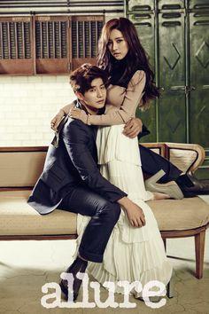 Song Jae Rim & Kim So Eun allure Dec 2014