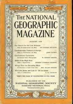 National Geographic August 1938