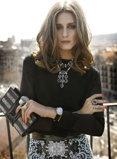 Olivia Palermo is my girl style crush. Estilo Olivia Palermo, Olivia Palermo Winter Style, Olivia Palermo 2017, Olivia Palermo Makeup, Olivia Palermo Wedding, Very Long Bob, Black And White Outfit, Black White, Love Her Style