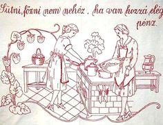 Nagyanyáink falvédői 5 - Minden napra egy puszi Afghan Crochet Patterns, Stitch Patterns, Bonnet Pattern, Embroidery Neck Designs, Blackwork, Folk Art, Needlework, Diy And Crafts, The Past