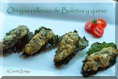 CocinandoSetas: Ortigas rellenas de Boletus
