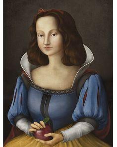 """ルネサンス風のタッチで描かれた""""ディズニープリンセス""""達の肖像画が興味深い!"""