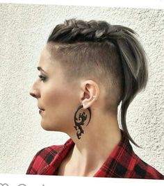 Undercut pixie with braid