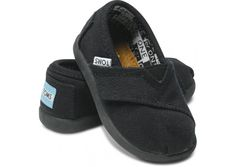 Black Canvas Tiny TOMS... Have to get some for my son, too cute! Actually I need to get Toms for the whole family, especially because with every pair you purchase TOMS will give a pair of new shoes to a child in need. One for One. I love that! :)