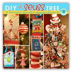 Dr Seuss Christmas Tree Decorations - A Pop of Pretty Decor Ideas Dr. Seuss, Grinch Stole Christmas, Winter Christmas, Christmas Holidays, Christmas Ideas, Christmas Goodies, Christmas Stuff, Happy Holidays, Christmas 2017