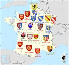 My family (dads side) is originally from languedoc-Roussillon. My mom is from Basse-Normandie:) France Map, France Travel, Normandy France, World History, Family History, Maximilian I, Templer, French History, Flags Of The World