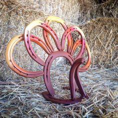 Horseshoe Turkey, Fall/Autumn/ Halloween/Thanksgiving Horseshoe Turkey