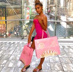 You should've seen my face when I saw the Gucci holiday bags were pink 😭🤩💗💗💗💗💗💗💗 One Shoulder, Shoulder Dress, My Face When, I Saw, Gucci, Holiday Bags, Pink, Instagram, Fashion