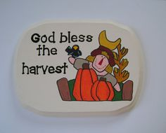 God bless the harvest  wall hanging by ifrogcrafts on Etsy, $15.00
