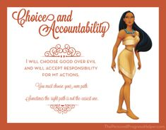 Young Women Value Disney Princess Posters   Choice and Accountability: Pocahontas