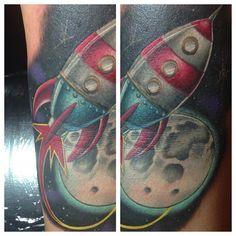 da26c7366 rocket tattoo by Justin Cunningham at A Mind's Eye Tattoo in Boise. Inkoholiks  Tattoo-studio · Toy story tattoos