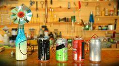 Experiência de química fácil de fazer e barata. Aprenda passo a passo como fazer uma bateria de verdade usando apenas latinhas de alumínio e mais alguns apetrechos básicos.                                                                                                                                                                                 Mais