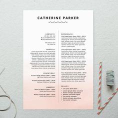 INSTANT DOWNLOAD CV Ombre Design Printable by BrandConceptCo, $11.00