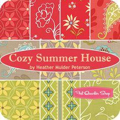 Cozy Summer House Fat Quarter Bundle Heather Mulder Peterson for Henry Glass Fabrics - Fat Quarter Shop