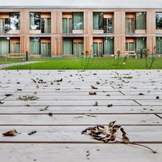 Image 8 of 23 from gallery of Residential Care Home Andritz / Dietger Wissounig Architekten. Photograph by Helmut Pierer Arch House, Aged Care, Passive House, Ground Floor Plan, Architecture, Planer, Townhouse, Environment, Exterior