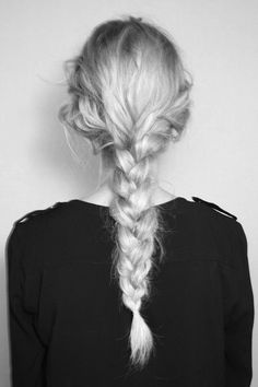 Plaits from each side and into a low plait