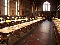 remembering High Table, Keble College Oxford