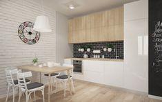 Znalezione obrazy dla zapytania salon z aneksem kuchennym styl skandynawski