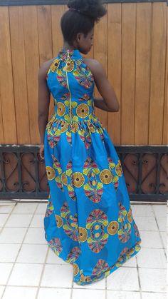 Efua African Print Maxi Dress/ Ankara Dress / by AdinkraExpo