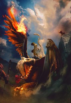 Cool Griffin Battle Wallpaper. for real this time. from Dragon's Dogma