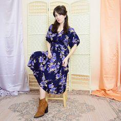 BohoKimono - Sustainable Clothing, Boho Clothing | BohoKimono Midi Dresses Uk, Floral Midi Dress, Boho Kimono, Kimono Fashion, Evening Blouses, Sustainable Clothing, Boho Outfits, Bohemian Style, Vintage Ladies