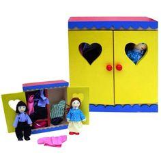 Charl's Design Toys Linnenkast met buigpoppetjes ouders
