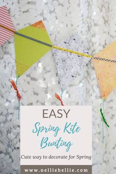 Making this adorable kite bunting will keep the kids entertained for hours and makes a fabulous little project for those spring rainy days. You can customize it for all ages. #Springcraft #Kidscraft #Kitebunting #craftingwithkids Craft Tutorials, Diy Projects, Easy Crafts, Crafts For Kids, Diy Ideas, Party Ideas, Spring Crafts, Kite, Party Printables
