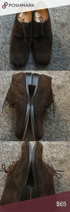 Robert Clergerie brown suede Oxford shoes Brown suede Oxford shoes size 8. Menswear inspired. Soles have been modified by a cobbler. Great fall style Robert Clergerie Shoes Flats & Loafers