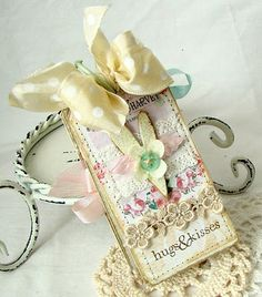 XO Hugs Kisses Love Book Bookmark with Antiqued Charm
