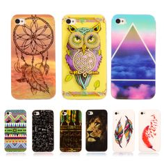 Coque For iPhone 4 4s Case Lion Pattern Case Retro Vintage Transparent Silicone Cover Capa Para Soft Plastic TPU Case